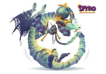 Spyro Reiginited Trilogy Designs: Revilo by Gorrem