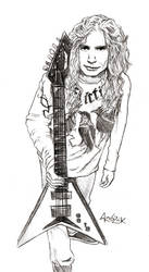 Dave Mustaine sketch: 'Guitar' by Shamaanita
