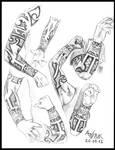 Study of Joakim Broden's tattoo