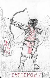 Inktober 2018 TES III:Morrowind: Ashlander by Shamaanita