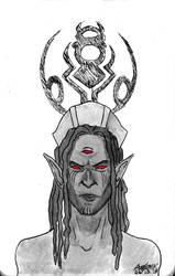 Inktober 2018 Day 6 TES III:Morrowind: 6th House by Shamaanita