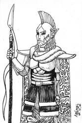 Inktober 2018  TES III: Morrowind: Ordinator by Shamaanita