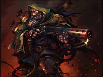 Dwarven Pyromancer by petrovi4