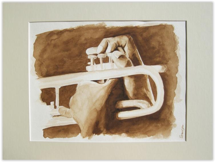 jazz trumpetist by s-w-a-z-e
