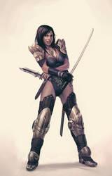 Guille-swordsgirl by MoonlightOrange