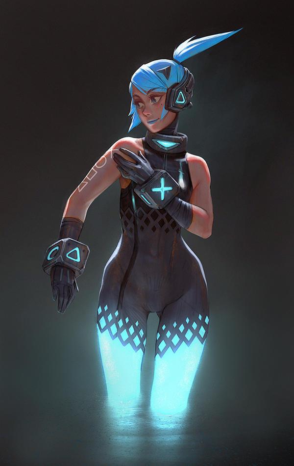 Ps4 girl by moonlightorange on deviantart - Xbox anime gamer pictures ...