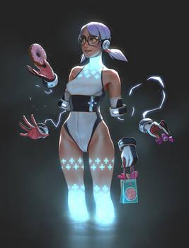 Wii U Girl -  ilustration