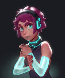 Glowing girl warm up sketch