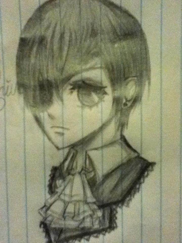 Random Ciel Phantomhive Doodle by kittypiekilljoy