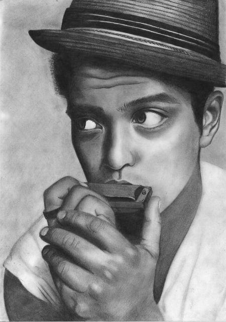 Bruno mars drawing by manueee on DeviantArt