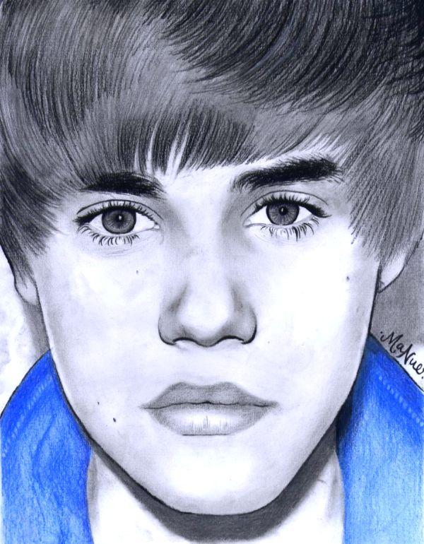 Justin Bieber drawing by manueee