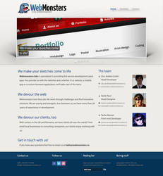 Webmonsters - first page layout by ssportcars