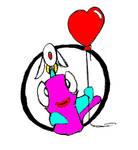 F and U valentine sticker