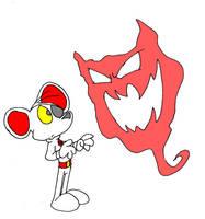 Danger Mouse vs. Fog Monster by battybuddy