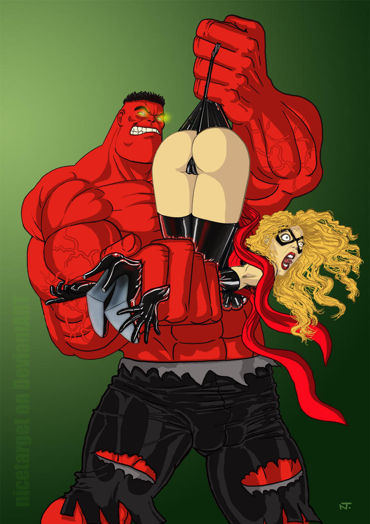 Red hulk vs Miss Marvel by nicetarget