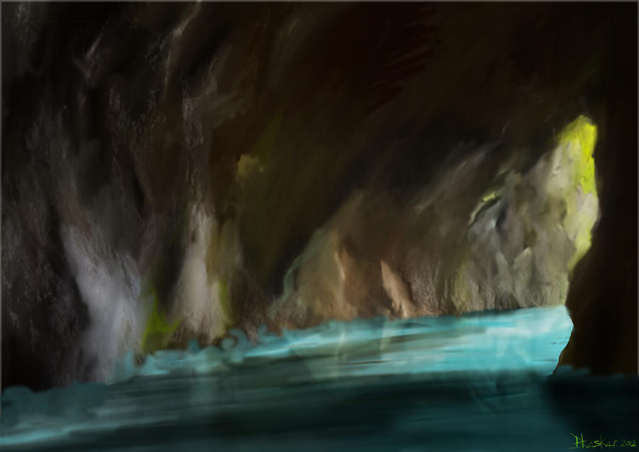 Flooded cave by bhaskar655