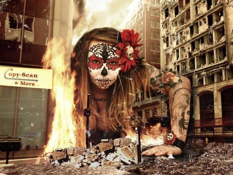 Giant Girlfriend destroys the world.