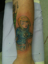 Invisible Woman J Scott Campbell Tattoo