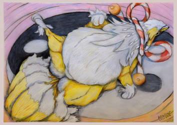 Kyubimon in da fat by SSsilver-c