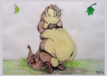 My old fatty Silvertail otter by SSsilver-c