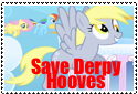 Save Derpy Hooves Support Stamp by Rosethethief