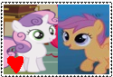 Scootabelle Support Stamp by Rosethethief
