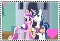 Shining ArmorXPrincess Cadence Support Stamp by Rosethethief