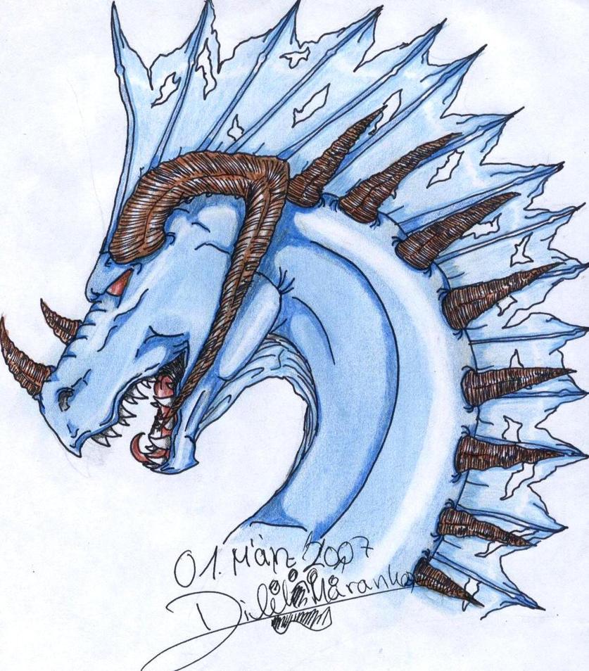 Blue Dragon Head by BestiaLady on DeviantArt