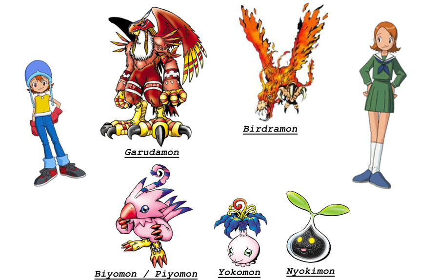 Evolutions of Biyomon / Piyomon by TiagoMC on DeviantArt Gaomon Evolution Chart