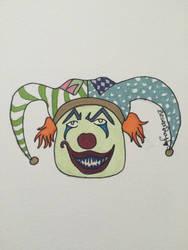 Evil Jester Clown by VISIONARYGirl