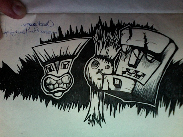 Gorillaz Styled Drawing by artisticdork
