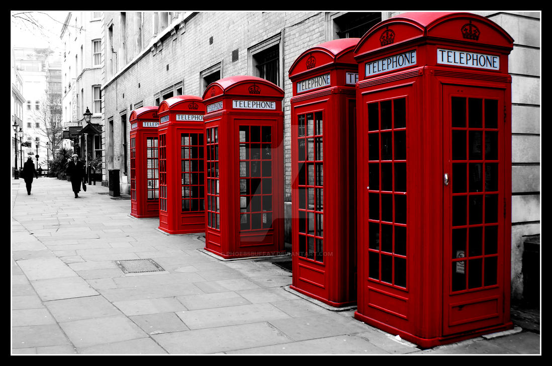 London red telephones by phoebsbuffay