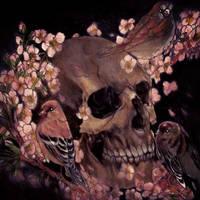 skull sakura by Akumashugitattoo