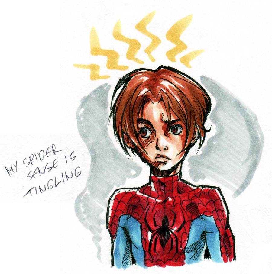 Peter Parker sketch 1