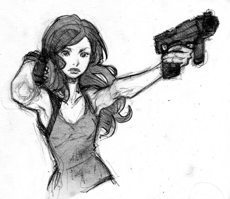 Girl with Gun 02 by Tanashi