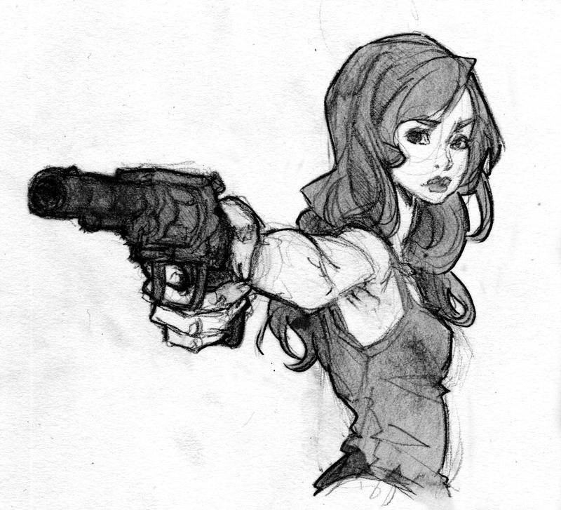 Girl with Gun 03 by Tanashi