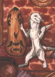 Ernio in tavern ACEO by lynxfang-art