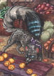 Prepairing for Halloween ACEO by lynxfang-art