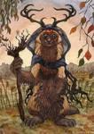 Samhain ACEO by lynxfang-art