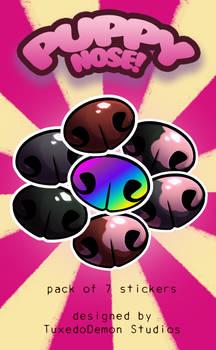Puppy Nose! Sticker set