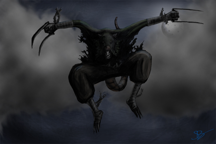 Skaven Assassin Colored by evilmeatmonkey