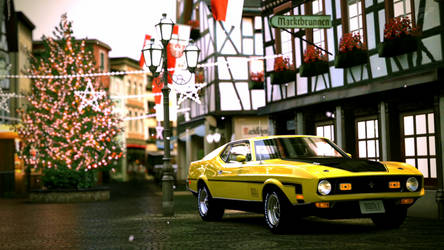 Ford Mustang Mach 1 - Ahrweiler Winter Scene by Cricky1224