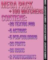 MegaPack Recursos +100 Watchers by SamMoya