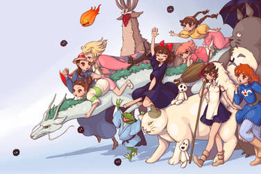 Ghibli is love by Lady-Bullfinch