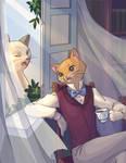 A teatime in Cat's Bureau