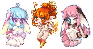 Chibi Commission Batch 77 - 79 by Lady-Bullfinch