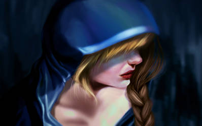 Art exposition 2: Lady in Blue