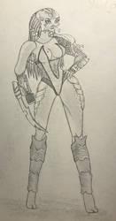 Female Bad Blood Sketch  by lilbitludwig