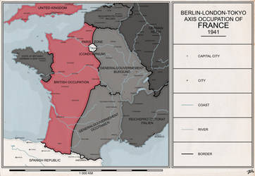 Axis Partition of France, 1941 by aroteer-jughashvili