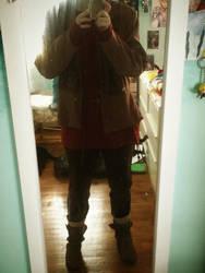 Merlin cosplay in prog:Added socks and brown pants